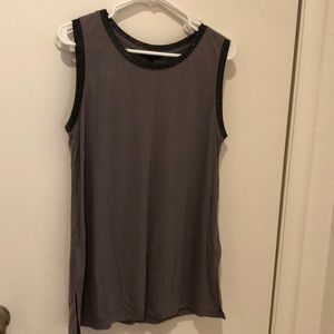 Purple sparkly tank top. Size large